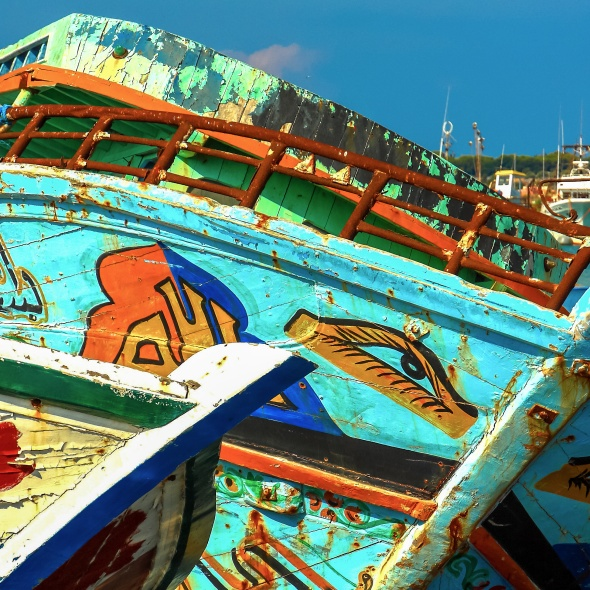 Migrants boats